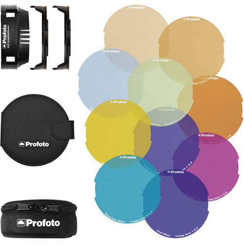 Profoto OCF Color Gel Starter Kit (Grid&GelHolder, 2 gel attachment, 1 gel wallet, 10 gels)